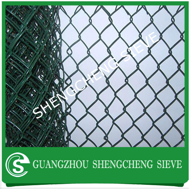 Africa Green pvc coated farm used chain link fence panels wholesale price
