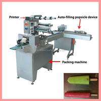 Automatic ice cream stick bar popsicle bar flow packing machine