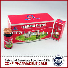 0.2% injectable estradiol benzoate female for sex in horse/veterinary medicine