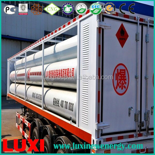 25Mpa High Pressure Cng Transport Truck Trailer