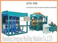 hydraulic color paver block making machine QT6-15B Chinese manufacturer
