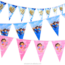 Birthday Banner Party Birthday Decorative Props wedding decoration Scene Cartoon Arrangement Triangle Flag