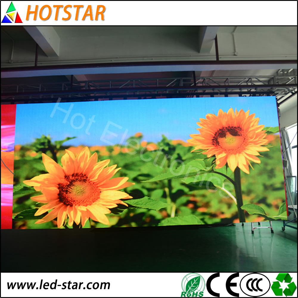 High brightness outdoor P4.81 led clock temperature display