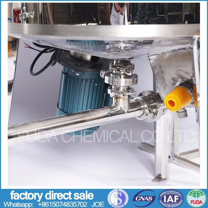 liquid detergent products mixing machine with stainless steel body