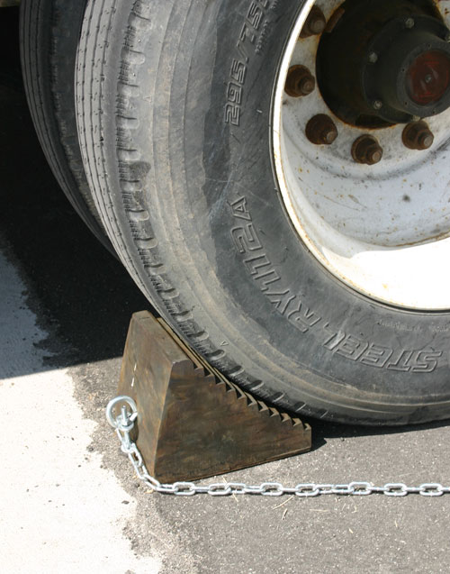 Car wheel stops chock
