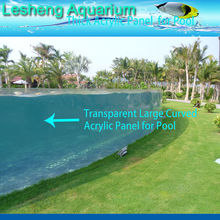 Clear UV resistant acrylic panels for plexiglass swimming pool and aquarium