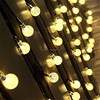 Innoo Tech Solar Outdoor String Lights 19.7 ft 30 LED Warm White Crystal Ball Christmas Globe Lights for Garden Path