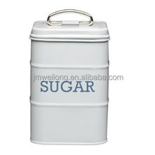 Sugar Storage Canister with Stainless Steel Handle