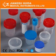Disposable sterile urine collection container urine cup