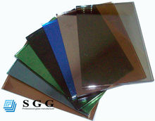 High quality reflective tinted glass reflect solar heat 4mm 5mm 6mm thick size 2140*3300mm