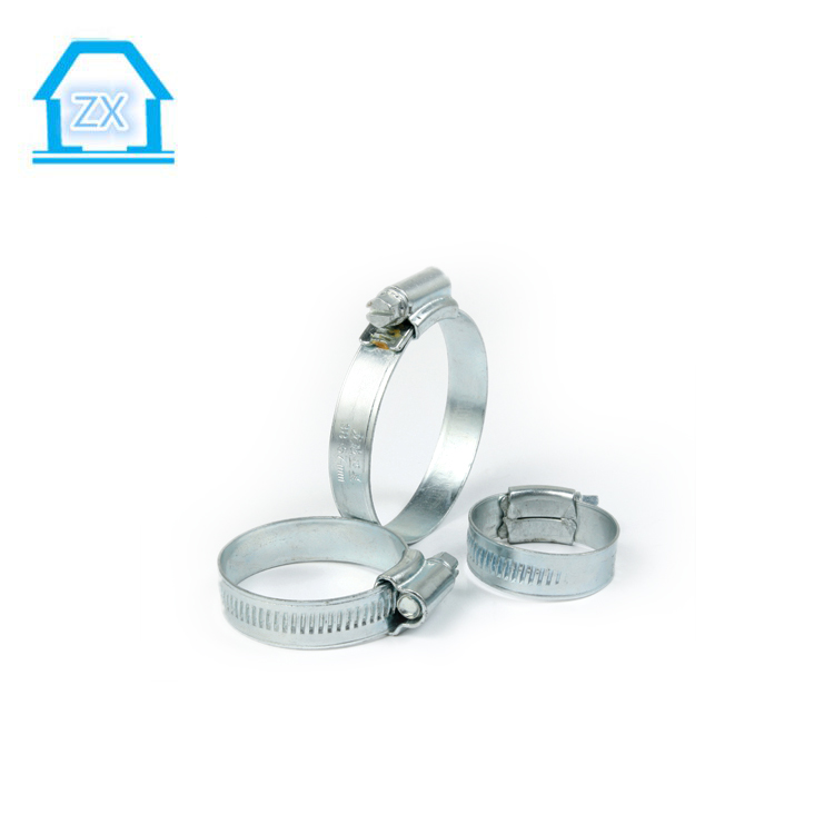 44-60mm British Type Hose Clamps Galvanized Steel Plastic Clip for Tube