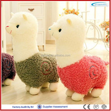 OEM custom made soft toy llama plush toy llama llama sweaters