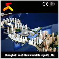 Fantasitic miniature scale planning model, architectural 3d rendering for Doha project