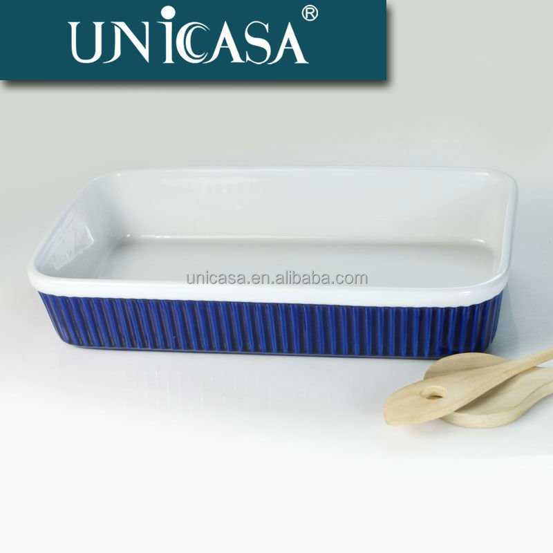UNICASA Low cost oven safe ceramic bakeware wholesale pan