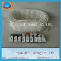 White colour regular handmade weaving oval plastic fruit trays