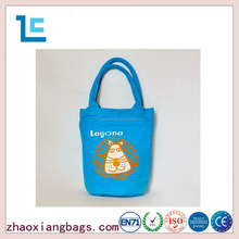 zhaoxiang customized cute lion pattern cotton frabic shopping bag