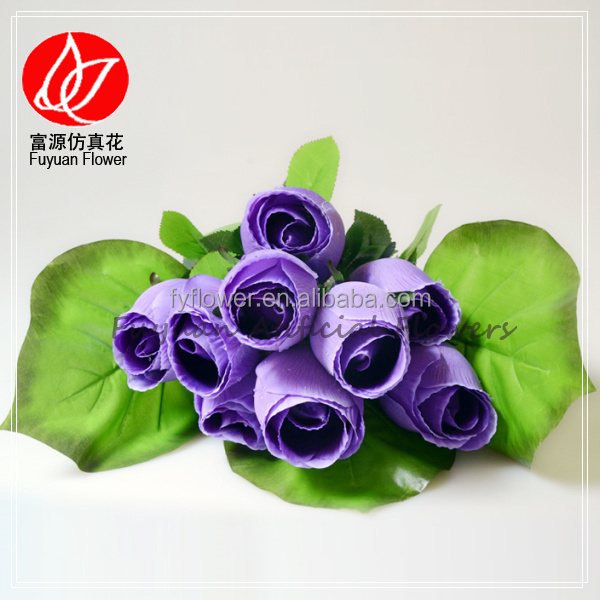 140780 New new arrival violet purple tear drop flower artificial beautiful rose