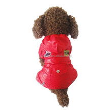 Wholesale Large Dog Clothes Red Dog Air Force Raincoat