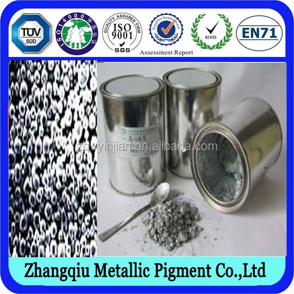 yinjian manufacture using solvent IPA Water Based Aluminium paste