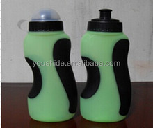 Free sample 500ml BPA Free plastic sport bottle with dusy cup SGS certificate