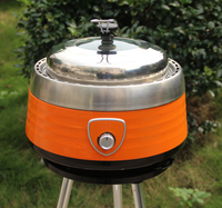 Smokeless Stainless Steel portable Charcoal BBQ grill for Barbecue
