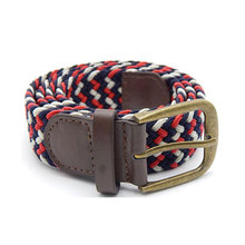 Fashion Unisex Mens Womens Cotton Canvas Fabric Metal Buckle Woven Belts