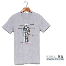 YM-01 new style men's cultivate one's morality round collar cotton T-shirt