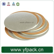 China Supplier Cheap Custom Circular Glossy Lamination Mini Cake Board Pad