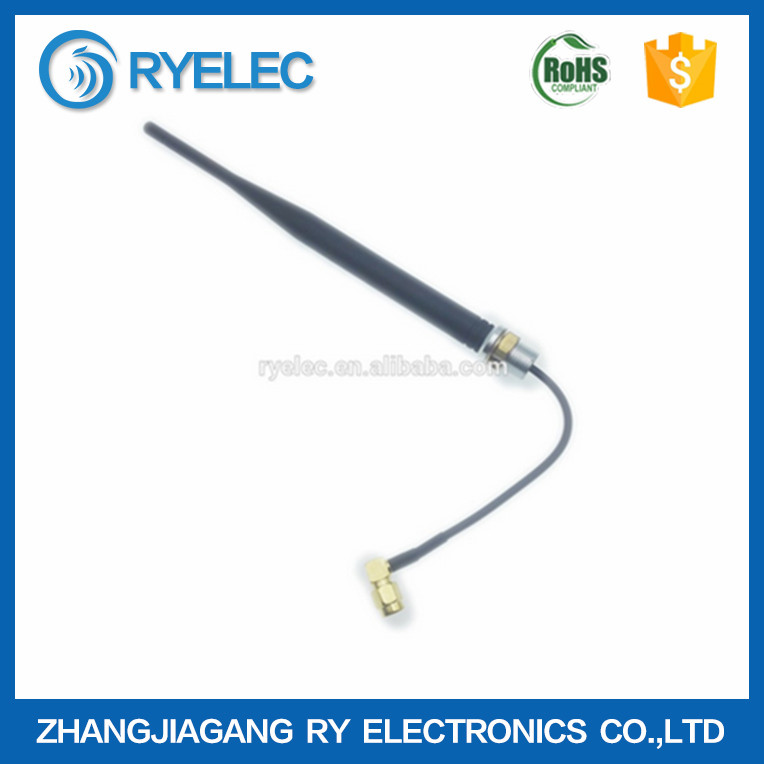 rf module 315mhz dipole through hole mount antenna with 20cm cable to SMA RA male