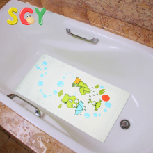 SCYBM001 baby non-slip bath mats with temperature display PVC Soft 40*70cm NO tool 1pcs Cartoon pattern