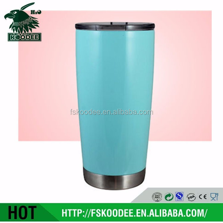 20 oz Premium Grade Stainless Steel Double Wall Vacuum Insulated Travel Tumbler Cup - Keeps COLD & HOT