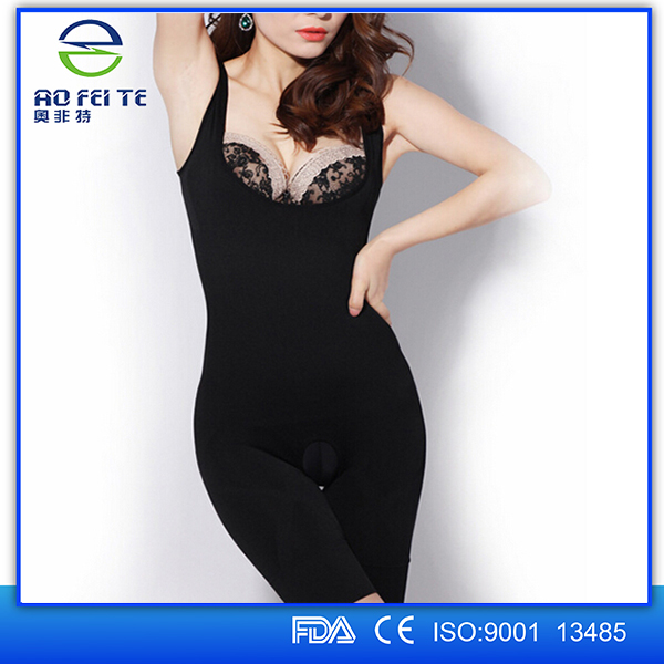 Lady Underwear Women Natural Bamboo Charcoal Body Shaper ...