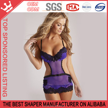 Hot Sell Sexy Girls XXX Size Lingerie of Babydoll Photos Open Bikini Underwear for Sexy Girls