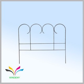Garden decoration powder coated modern ornamental wrought iron fence