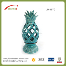 Gifts & Crafts wholesale decorative pineapple ceramic candle lantern, mini lantern, lantern candle holder