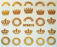 Fashion Gold Nail Sticker Decals for gold nail tattoo sticker