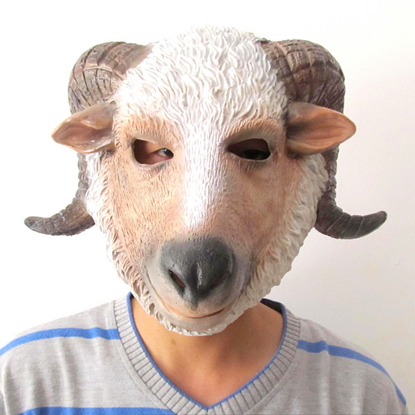 Creepy Party Deluxe Novelty Halloween Costume Party goat head latex animal mask