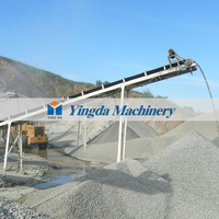Rubber belt conveyor system for cement