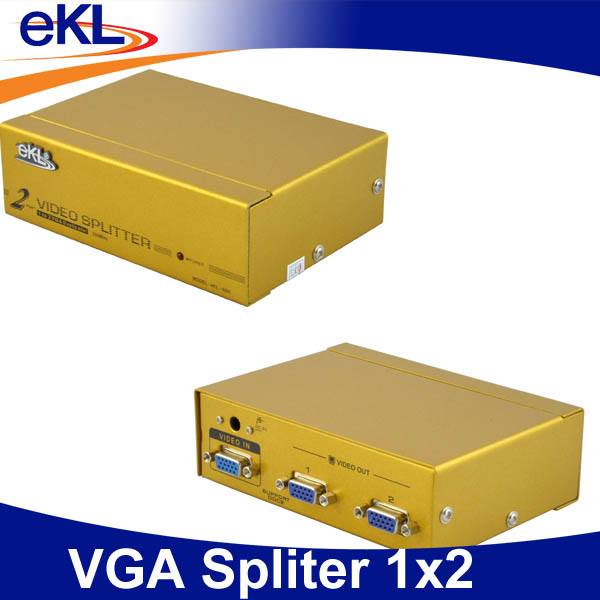 SVGA / VGA Manual Switch Metal Case 15 Pin 1 into 2 Splitter Box