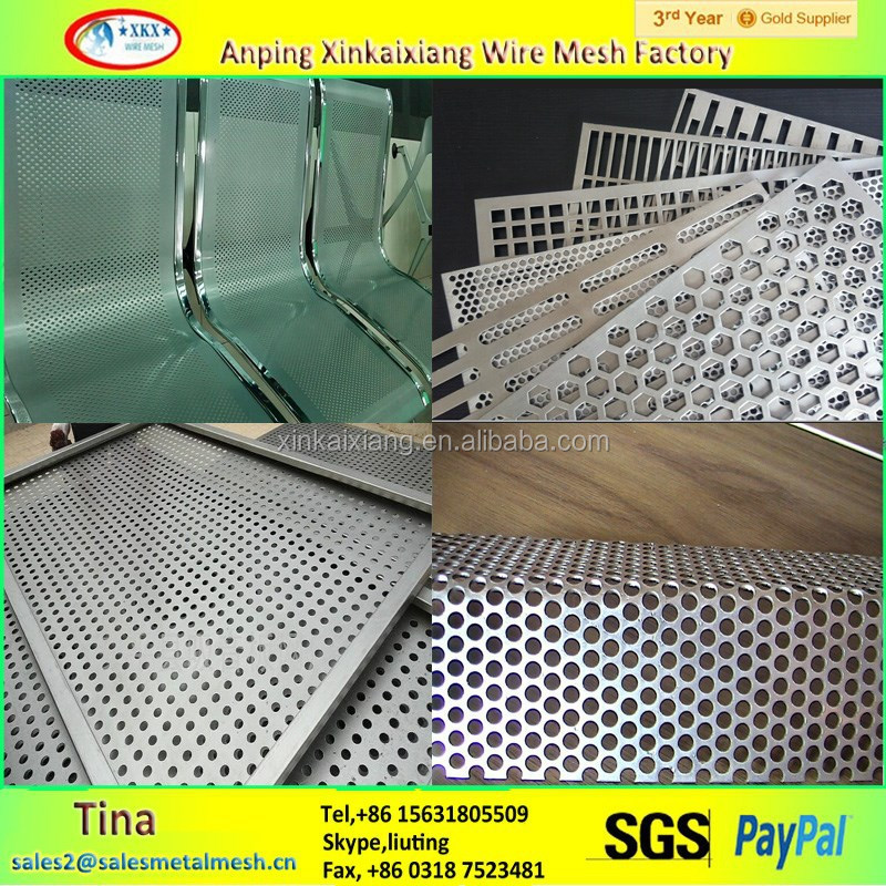 Made in china 2mm hole elecro galvanized perforated metal mesh,sheet