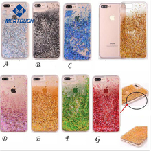 Fashion Girls Children glitter liquid case for iphone 7 7plus flowing floating star bling bling mobile phone case