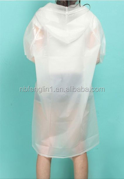 promotional gifts wholesale high quality adult cheap long pvc white pet raincoat