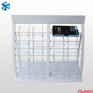 Quality metal tile samples display rack 4 sides ceramic tile display stand