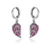 93131xuping the leaf shaped Korean style pendant earrings, Rhodium gold plated elegant eardrops