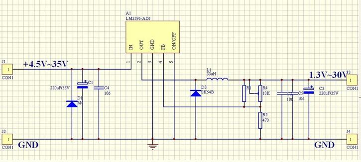 1pcs Dc-dc Buck Converter Step Down Module Lm2596 Power Supply Output 1 23v-30v