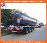 30CBM Chemical Semi trailer Tri-axle Chemical Tanker Truck
