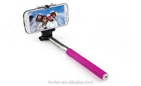 NEW Z07-1 Extendable Self palo Selfie Stick Handheld Monopod +Clip Holder+Wireless Bluetooth Remote Control for Phone