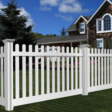 Vinyl White Plastic Picket Fence Indoor&Outdoor