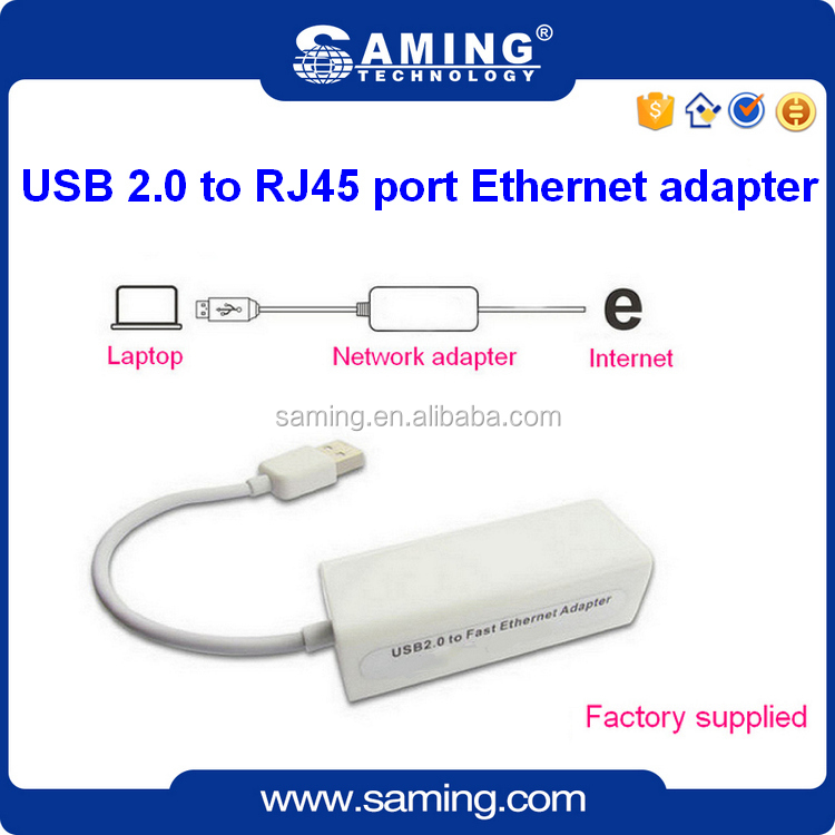 2016 Hot sale 100Mbps ethernet lan card USB2.0 to RJ45 Fast network Adapter