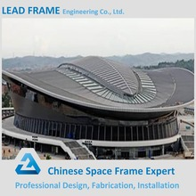 Prefab Customized steel structure curved roof stadium